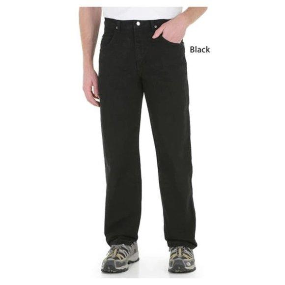 Wrangler Relaxed Fit Men's Black Denim Jeans